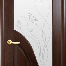 Двери Новый стиль Маэстра ПВХ Амата+Р2 Каштан Новый Стиль