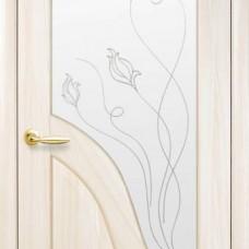 Двери Новый стиль Маэстра ПВХ Амата+Р2 Ясень Новый Стиль