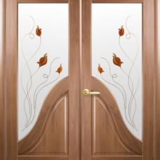 Двери Новый стиль Маэстра ПВХ Амата+Р1 двойные Новый Стиль