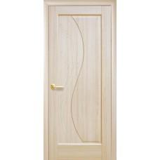 Двери Новый стиль Маэстра ПВХ Эскада ПГ с гравировкой ясень Новый Стиль