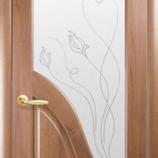 Двери Новый стиль Маэстра ПВХ Амата+Р2 Золотая Ольха Новый Стиль