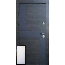 """Двері Qdoors Премиум Стиль-М венге серый горизонт АРТ - белое дерево """"Qdoors"""""""
