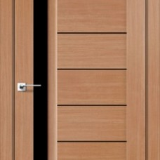 Двери DARUMI BORDO Двери BORDO Дуб натуральный черное «Lacobel»