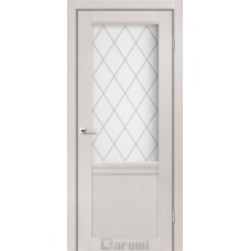 Двери DARUMI GALANT Двери GALANT GL-01 Дуб Ольса сатин белый + D1 ромб графит