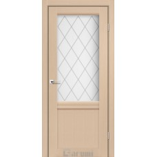 Двери DARUMI GALANT Двери GALANT GL-01 Дуб боровой сатин белый + D1 ромб графит