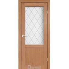 Двери DARUMI GALANT Двери GALANT GL-01 Дуб натуральный сатин белый + D1 ромб графит