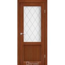 Двери DARUMI GALANT Двери GALANT GL-01 Орех роял сатин белый + D1 ромб графит