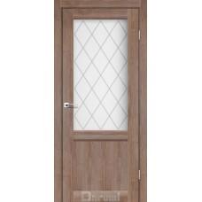 Двери DARUMI GALANT Двери GALANT GL-01 Орех Бургун сатин белый + D1 ромб графит