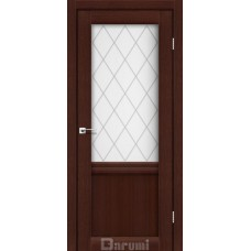 Двери DARUMI GALANT Двери GALANT GL-01 Венге панга сатин белый + D1 ромб графит