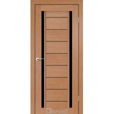 Двери DARUMI MADRID Двери MADRID Дуб натуральный черное «Lacobel»