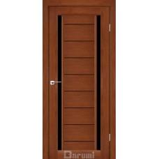 Двери DARUMI MADRID Двери MADRID Орех роял черное «Lacobel»