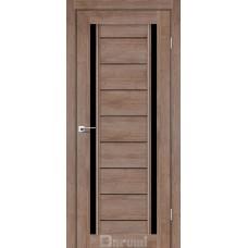 Двери DARUMI MADRID Двери MADRID Орех Бургун черное «Lacobel»