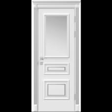Двери RODOS SIENA SIENA ROSSI СО СТЕКЛОМ, БЕЛЫЙ МАТ