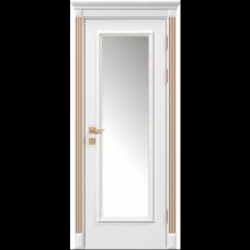 Двери RODOS SIENA SIENA ASTI СО СТЕКЛОМ, БЕЛЫЙ МАТ +ПАТИНА
