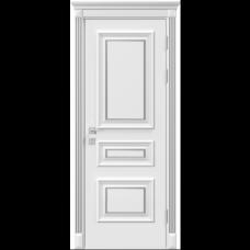 Двери RODOS SIENA SIENA ROSSI ГЛУХОЕ, БЕЛЫЙ МАТ +ПАТИНА