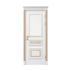 Двери RODOS SIENA SIENA ROSSI СО СТЕКЛОМ БЕЛЫЙ МАТ С ГРАВИРОВКОЙ